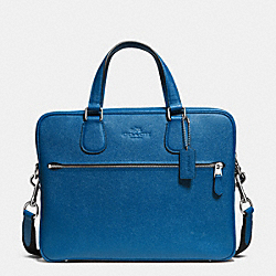 COACH HUDSON 5 BAG IN CROSSGRAIN LEATHER - SILVER/DENIM - COACH F71710
