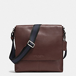 SULLIVAN SMALL MESSENGER IN SMOOTH LEATHER - MAHOGANY - COACH F71721