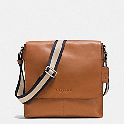 SULLIVAN SMALL MESSENGER IN SMOOTH LEATHER - SADDLE - COACH F71721