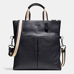 COACH FOLDOVER TOTE IN SMOOTH LEATHER - MIDNIGHT - F71722