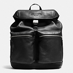 COACH RUCKSACK IN SMOOTH LEATHER - BLACK - F71728