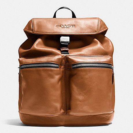 COACH RUCKSACK IN SMOOTH LEATHER - SADDLE - f71728