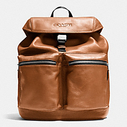 RUCKSACK IN SMOOTH LEATHER - f71728 - SADDLE