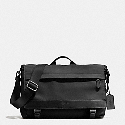 SULLIVAN MESSENGER IN NYLON - f71738 - ANTIQUE NICKEL/BLACK