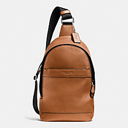 COACH CAMPUS PACK IN SMOOTH LEATHER - SADDLE - F71751