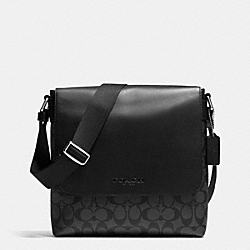 COACH SULLIVAN SMALL MESSENGER IN SIGNATURE - CHARCOAL/BLACK - F71765