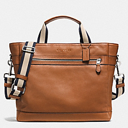 UTILITY TOTE IN SMOOTH LEATHER - SADDLE - COACH F71792