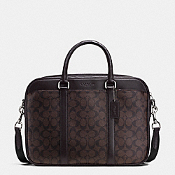 COACH SLIM BRIEF IN SIGNATURE - MAHOGANY/BROWN - F71794