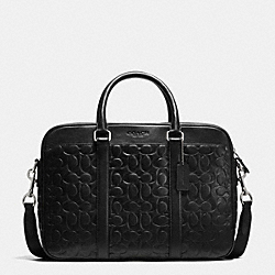 COACH SLIM BRIEF IN SIGNATURE LEATHER - BLACK - F71798