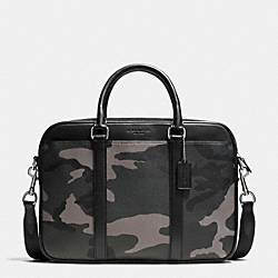 SLIM BRIEF IN PRINTED COATED CANVAS - E83 - COACH F71814