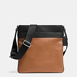 BOWERY CROSSBODY IN LEATHER - SADDLE/BLACK - COACH F71842