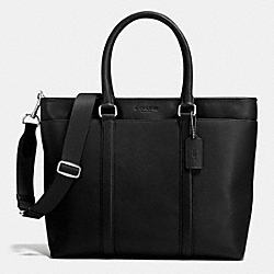 COACH BUSINESS TOTE IN SMOOTH LEATHER - BLACK - F71843