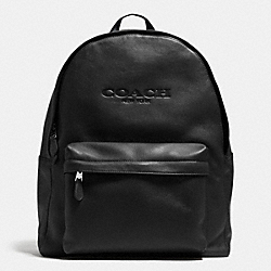 COACH CAMPUS BACKPACK IN LEATHER - BLACK - F71873