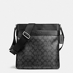 COACH BOWERY CROSSBODY IN SIGNATURE - CHARCOAL/BLACK - F71877