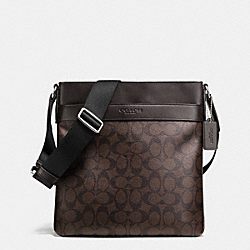 COACH BOWERY CROSSBODY IN SIGNATURE - MAHOGANY/BROWN - F71877