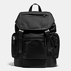 COACH TREK PACK IN NYLON - BLACK - F71884