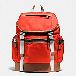 COACH TREK PACK IN NYLON - ORANGE - F71884