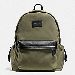 CAMPUS BACKPACK IN NYLON - BLACK ANTIQUE NICKEL/SURPLUS - COACH F71936