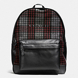 COACH CAMPUS BACKPACK IN PRINTED WOOL - EBW - F71938