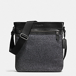 COACH TECH CROSSBODY IN WOOL - GRAY - F71948