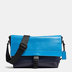 BIKE BAG IN NYLON AND PERFORATED LEATHER - AZURE - COACH F71968