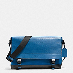 SPORT MESSENGER IN NYLON AND PERFORATED LEATHER - DENIM - COACH F71969