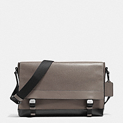 SPORT MESSENGER IN NYLON AND PERFORATED LEATHER - FOG - COACH F71969