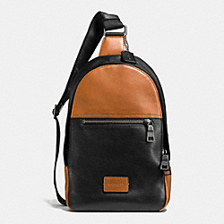 COACH CAMPUS PACK IN SPORT CALF LEATHER - BLACK ANTIQUE NICKEL/SADDLE/BLACK - F72035