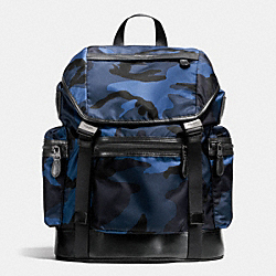 COACH TREK PACK IN PRINTED NYLON - BLUE CAMO - F72036