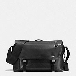 MANHATTAN MESSENGER IN LEATHER - f72050 - ANTIQUE NICKEL/BLACK