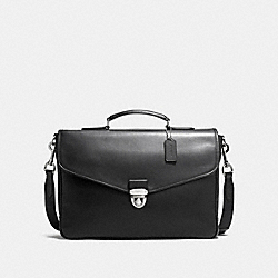 COACH PERRY FLAP BRIEF IN REFINED CALF LEATHER - BLACK - F72070