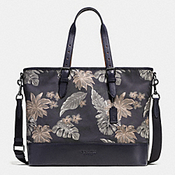 MERCER TOTE IN PRINTED CANVAS - f72074 - HAWAIIAN PALM