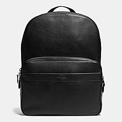COACH HAMILTON BACKPACK IN PEBBLE LEATHER - BLACK - F72082