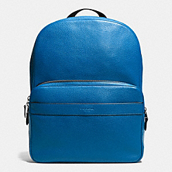 HAMILTON BACKPACK IN PEBBLE LEATHER - f72082 - DENIM