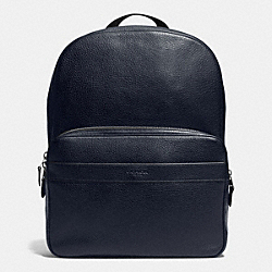 COACH HAMILTON BACKPACK IN PEBBLE LEATHER - MIDNIGHT - F72082