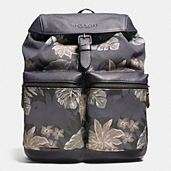 RUCKSACK IN PRINTED CANVAS - f72083 - HAWAIIAN PALM