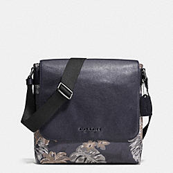 SULLIVAN SMALL MESSENGER IN CANVAS - HAWAIIAN PALM - COACH F72087