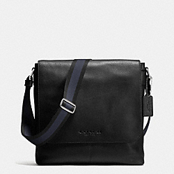 COACH SULLIVAN SMALL MESSENGER IN SPORT CALF LEATHER - BLACK - F72108