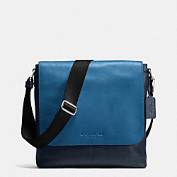 SULLIVAN SMALL MESSENGER IN SPORT CALF LEATHER - MIDNIGHT/DENIM - COACH F72108