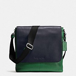 SULLIVAN SMALL MESSENGER IN SPORT CALF LEATHER - GRASS/MIDNIGHT - COACH F72108