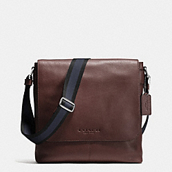 COACH SULLIVAN SMALL MESSENGER IN SPORT CALF LEATHER - MAHOGANY - F72108