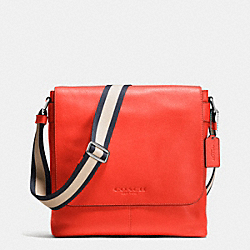 SULLIVAN SMALL MESSENGER IN SPORT CALF LEATHER - ORANGE - COACH F72108