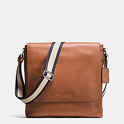COACH SULLIVAN SMALL MESSENGER IN SPORT CALF LEATHER - SADDLE - F72108