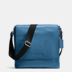 COACH SULLIVAN SMALL MESSENGER IN SPORT CALF LEATHER - SLATE - F72108