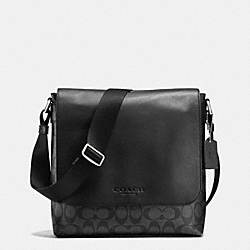 COACH SULLIVAN SMALL MESSENGER IN SIGNATURE - CHARCOAL/BLACK - F72109