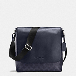SULLIVAN SMALL MESSENGER IN SIGNATURE - DENIM/NAVY - COACH F72109