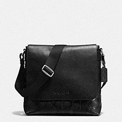 COACH SULLIVAN SMALL MESSENGER IN SIGNATURE - BLACK - F72110