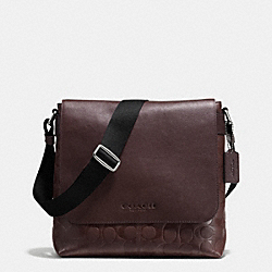 COACH SULLIVAN SMALL MESSENGER IN SIGNATURE - MAHOGANY - F72110