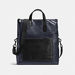 MANHATTAN FOLDOVER TOTE - MIDNIGHT/BLACK/BLACK ANTIQUE NICKEL - COACH F72141