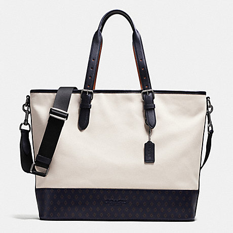 COACH MERCER TOTE IN CANVAS - DIAMOND FOULARD - f72155